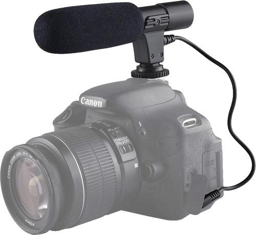 microfono estereo camara profesional nikon canon dslr -nuevo