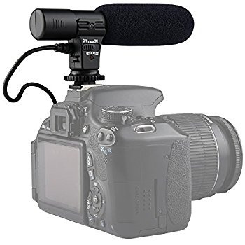 micrófono estéreo profesional para cámara de video o foto