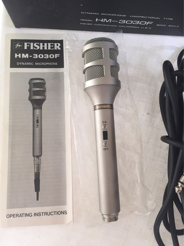 micrófono fisher unidireccional hm -3030f nuevo 100%original