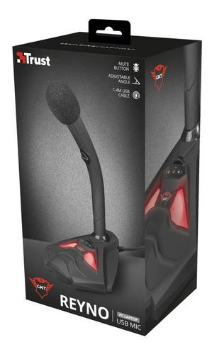 micrófono gamer trust gxt 211 reyno negro - trust