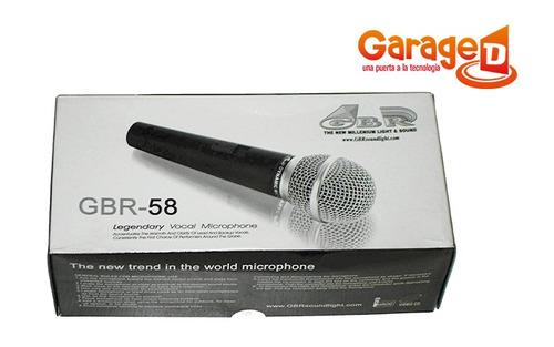 micrófono gbr 58 con cable calidad al mejor precio