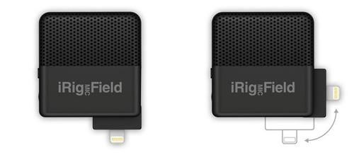 micrófono ik multimedia irig mic field - para iphone / ipad