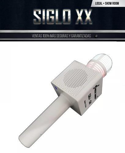 micrófono inalam. karaoke c/parlante bt usb (negro) (*f)
