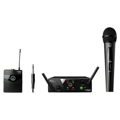 microfono inalambrico akg mini2 mixset ac - 101db