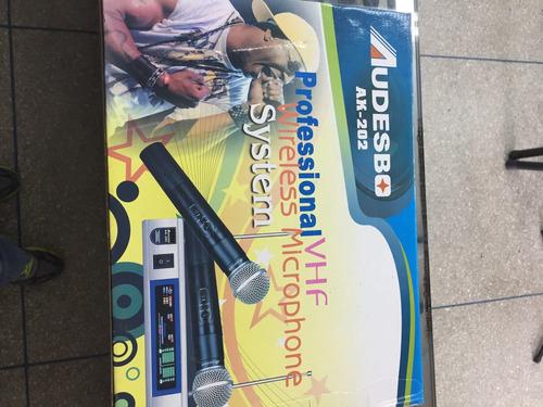 micrófono inalámbrico audesbo ak-202