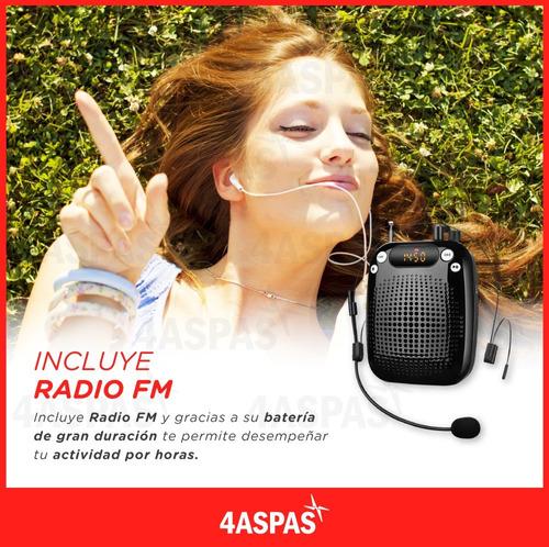 microfono inalambrico corbatero vincha portatil parlante fm