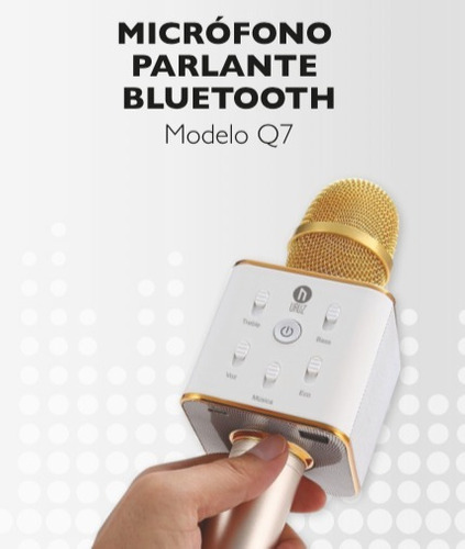 microfono inalámbrico c/parlante karaoke bluetooth negro x 2
