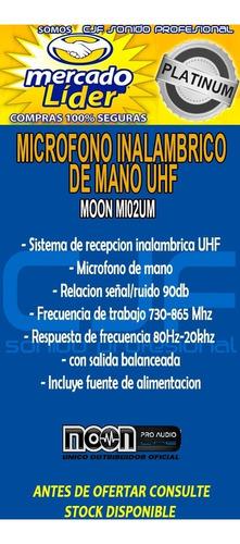 microfono inalambrico de mano moon uhf mi02um oferta cjf