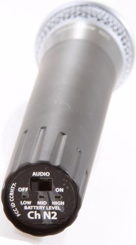 microfono inalambrico de mano samson concert 77 - 77shq7e-n6