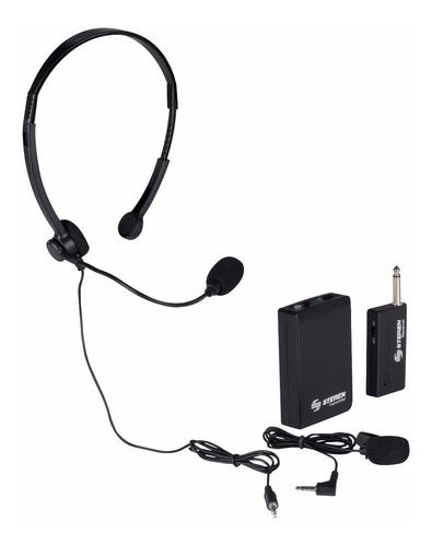 microfono inalambrico de solapa y diadema mic-290