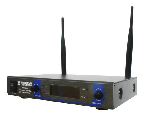 micrófono inalambrico diadema american 2 microfonos uhf 30m