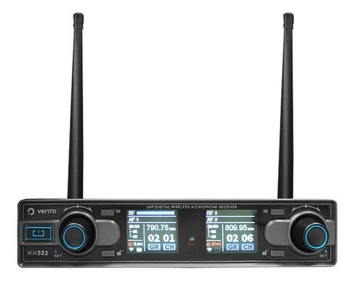 micrófono inalámbrico doble mano wm332 vento freq. uhf