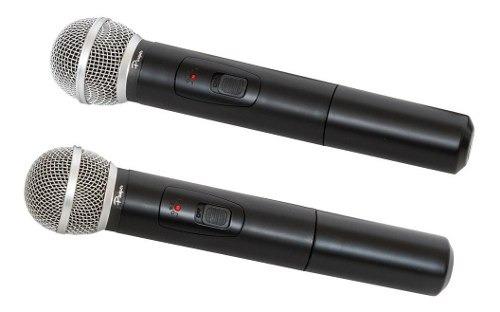 microfono inalambrico doble parquer profesional vhf