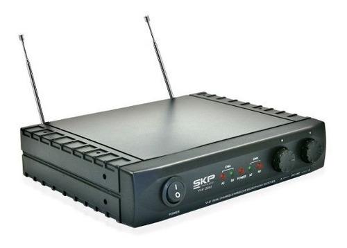micrófono inalámbrico doble skp vhf-2682 - 101db