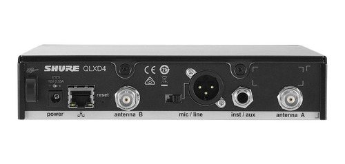 microfono inalámbrico instrumento plug shure sistema qlxd14