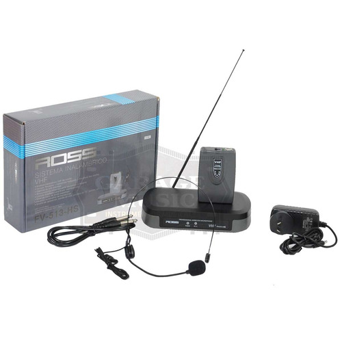 microfono inalambrico karaoke ross fv 513 hs original dinamico cable
