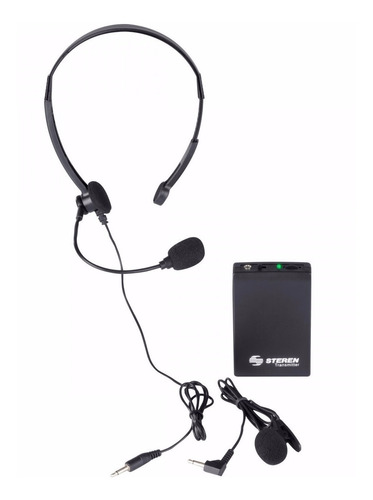micrófono inalámbrico lavalier solapa diadema mic-290 steren