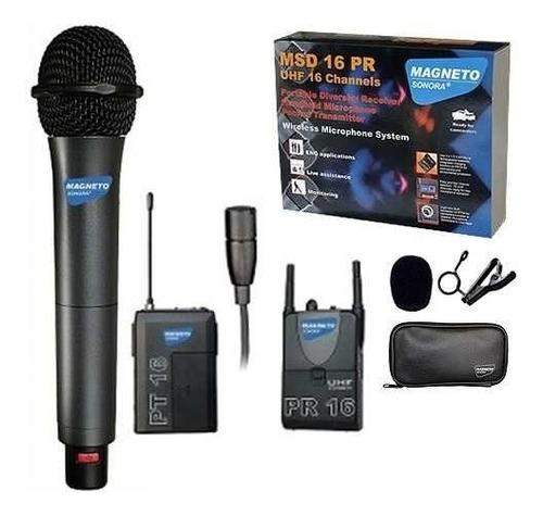 microfono inalambrico mano y solapero camara magneto sonora