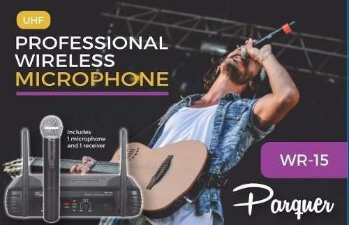 microfono inalambrico + microfono corbatero parquer uhf