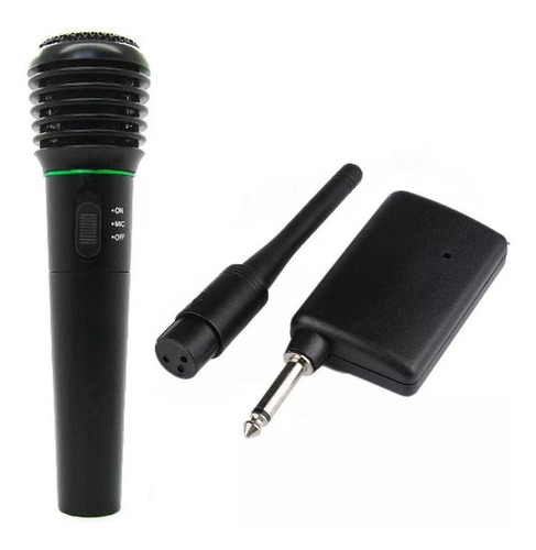 microfono inalambrico o cable profesional karaoke pila 50m