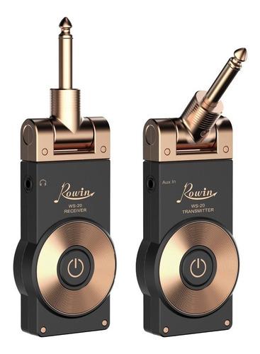 microfono inalámbrico para guitarra rowin ws-20 recargable