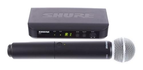 microfono inalambrico shure blx24/sm58, envío y meses