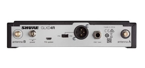 microfono inalámbrico shure glxd24r/b58 recargable beta58
