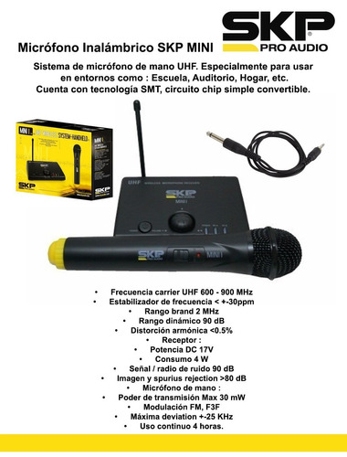 microfono inalambrico skp mini i -escar
