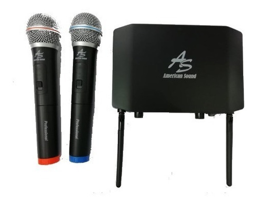 microfono inalambrico uhf 2 canal profesional twm-332 a/s