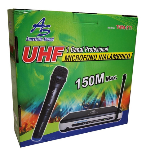 microfono inalambrico uhf american sound 150mt twm 311