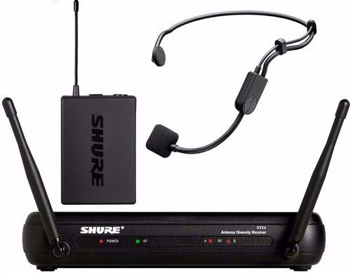 microfono inalambrico vincha uhf shure svx14/pg30-p12 gtia