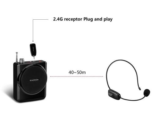 micrófono inalámbrico xiaokoa 40m auriculares amplificador