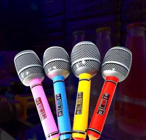 micrófono inflable cotillón carnaval carioca súper oferta