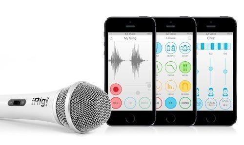 microfono irig voice ik multimedia - blanco