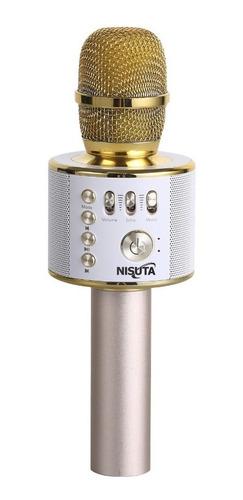 microfono karaoke bluetooth nisuta ns-micka estuche grabador