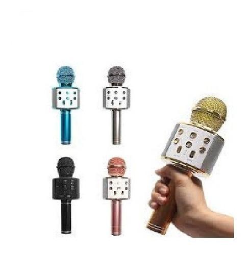 microfono karaoke bluetooth  parlante inalambrico cantar f