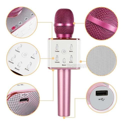 microfono karaoke de metal con bluetooth y parlante
