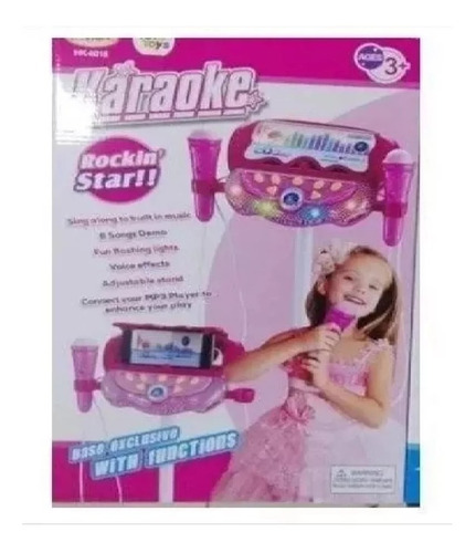 microfono karaoke doble infantil niñas mp3 efectos