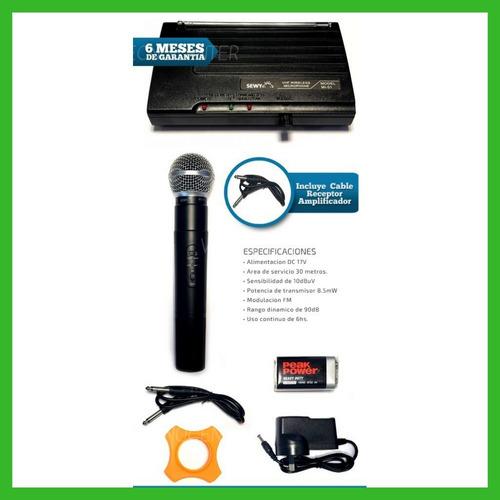 microfono karaoke inalambrico sewy mi03 profesional fiestas