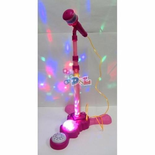 microfono karaoke infantil niñas luz, mp3 & mobile conexión