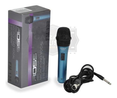 microfono karaoke ross fm138 original dinamico vocal cable