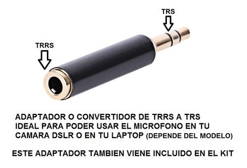 microfono lavalier clip solapa balita condensador 3.5mm kit