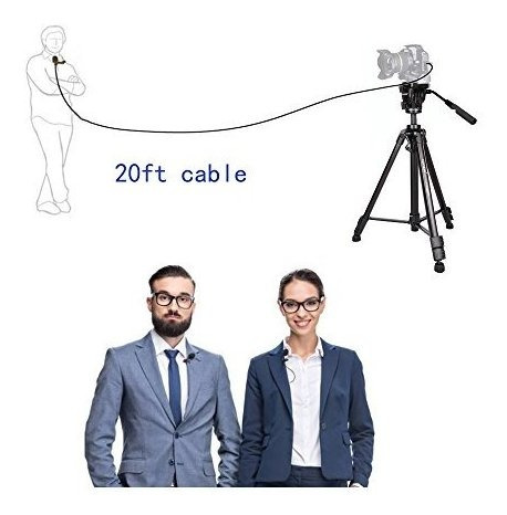 microfono lavalier de 20 pies nicama lvm3 microfono con clip