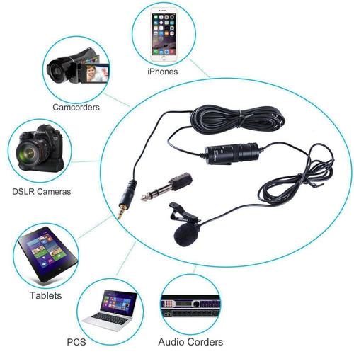 micrófono lavalier para cámaras, smartphones + | boya by-m1.