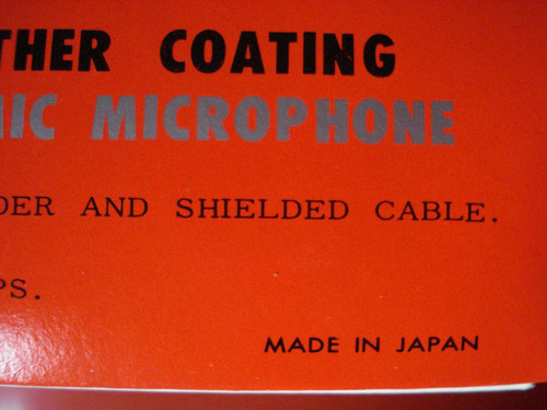 microfono made in japon vintage