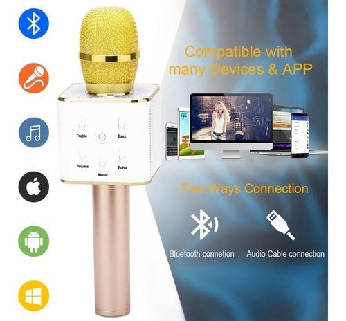micrófono magic karaoke bluetooth parlante pendrive auxiliar