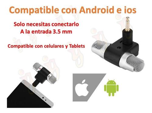 micrófono mini condensador android ios  celular tablet