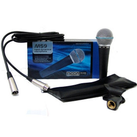 Microfono Moon M59 Dinamico C/cable Estuche Pipeta Isis