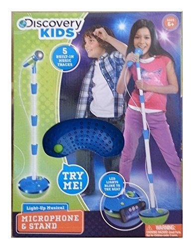 micrófono musical light-up discovery y soporte