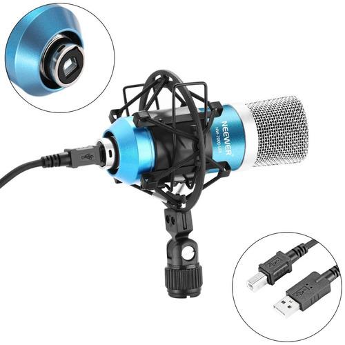 micrófono neewer nw-7000 usb professional de estudio + acces